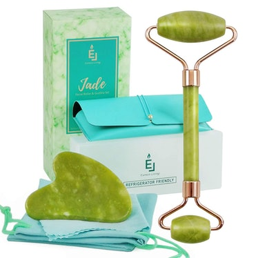 Earnest Living Jade Roller & Gua Sha Set