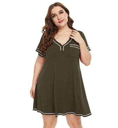 LARACE Pajama T-Shirt Dress