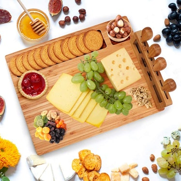 Widousy Bamboo Cheese Board Set