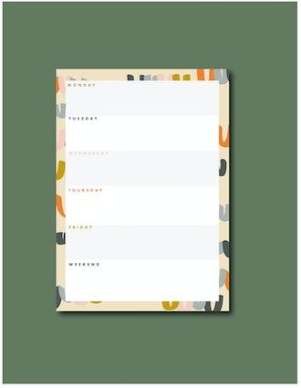 Happy Illustration Weekly Notepad