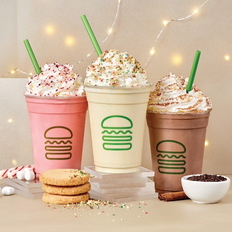 Shake Shack's Holiday Drinks 2020 Include A Candy Cane Marshmallow Milkshake
