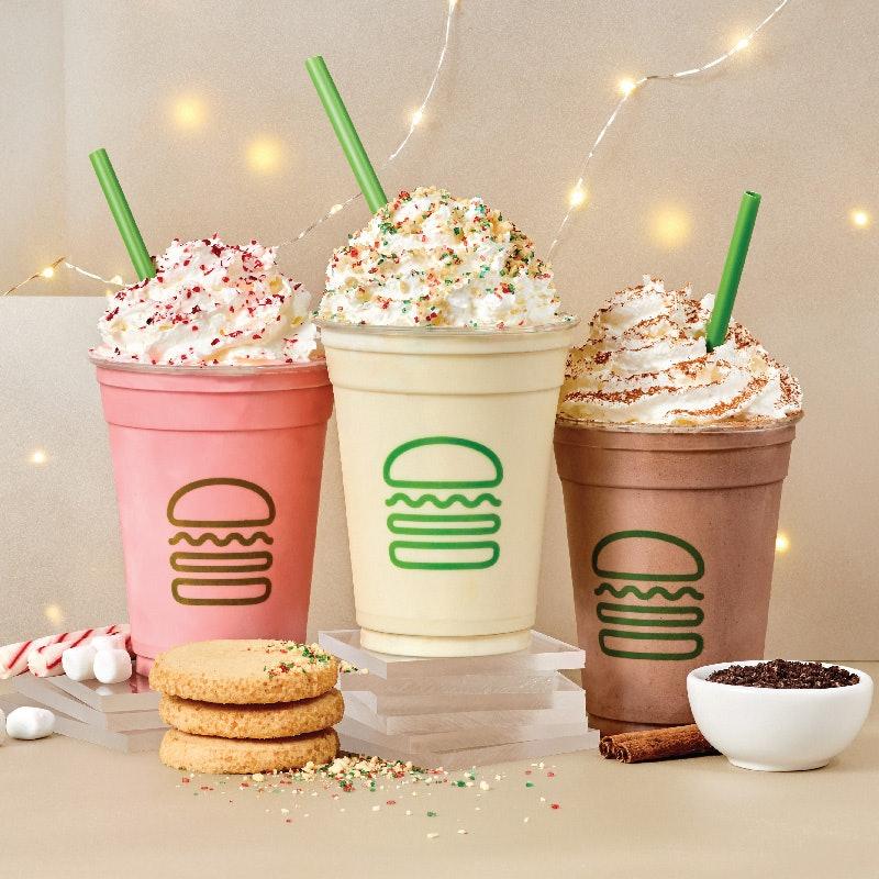 Shake Shack's Holiday Drinks 2020 Include A Candy Cane Marshmallow Milkshake