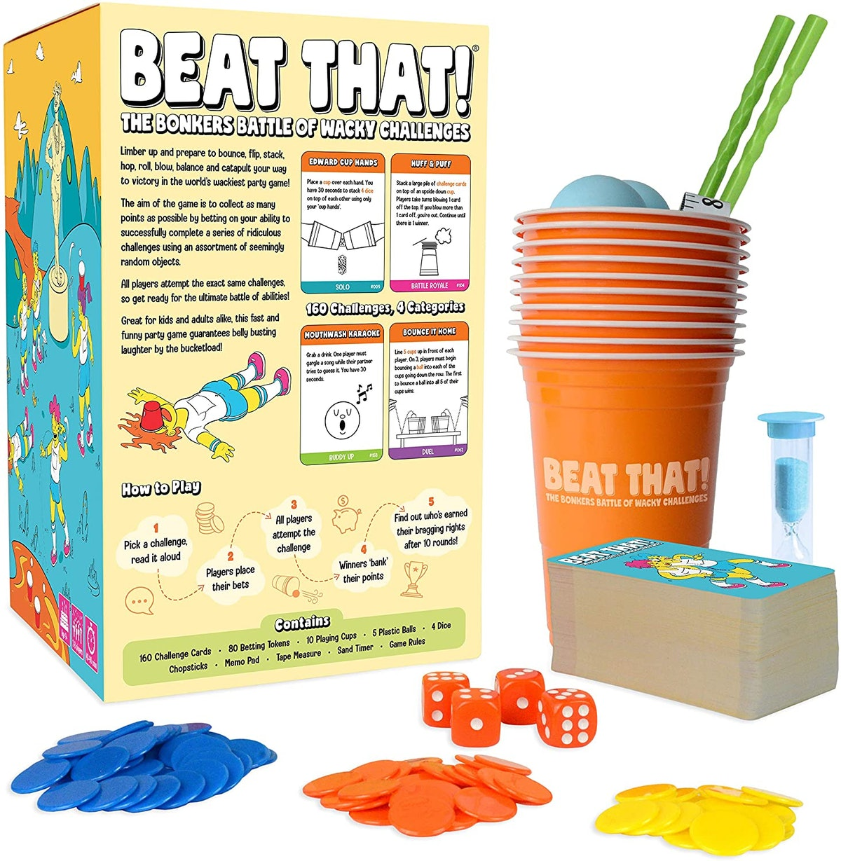 Beat That! The Bonkers Battle of Wacky Challenges Party Game
