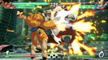 A still from the game Dragon Ball FighterZ is pictured.