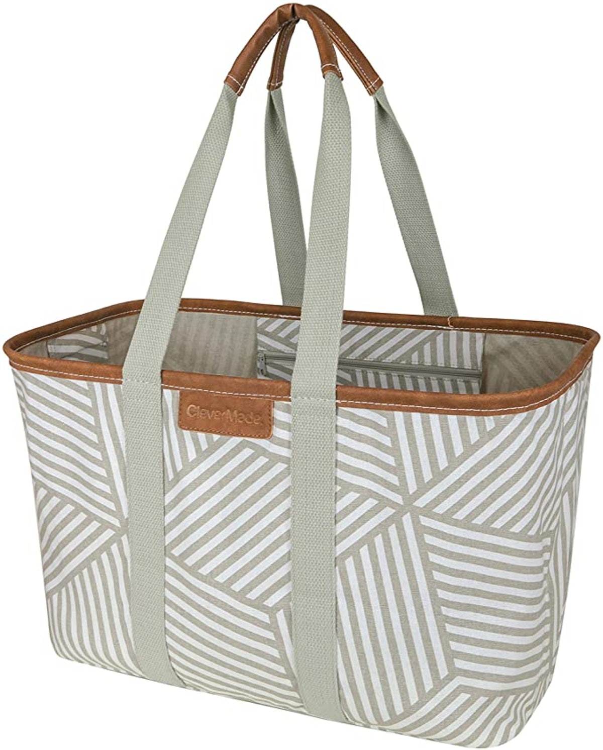 CleverMade SnapBasket Luxe Shopping Tote Bag