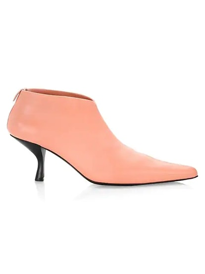 Bourgeois Leather Stretch Ankle Booties