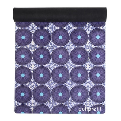 Yoga Mat: Purple Ankara