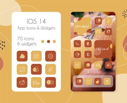 Warm Autumn iOS Home Screen Theme Pack