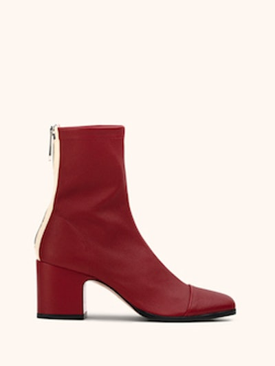 Aria ankle boots in Red stretch nappa