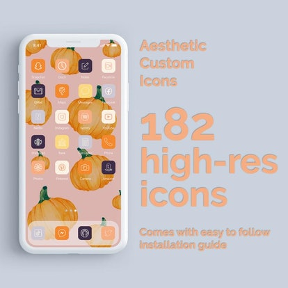 Pumpkin Patch iOS 14 Home Screen Theme Pack