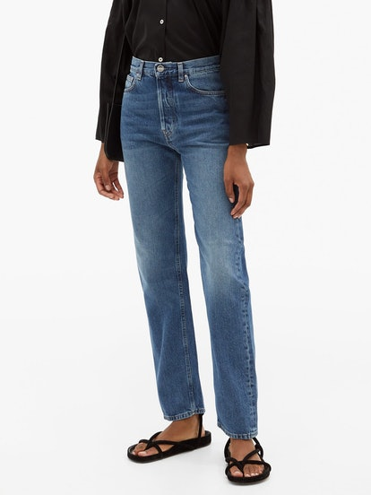 Ease Mid-Rise Straight-Leg Jeans