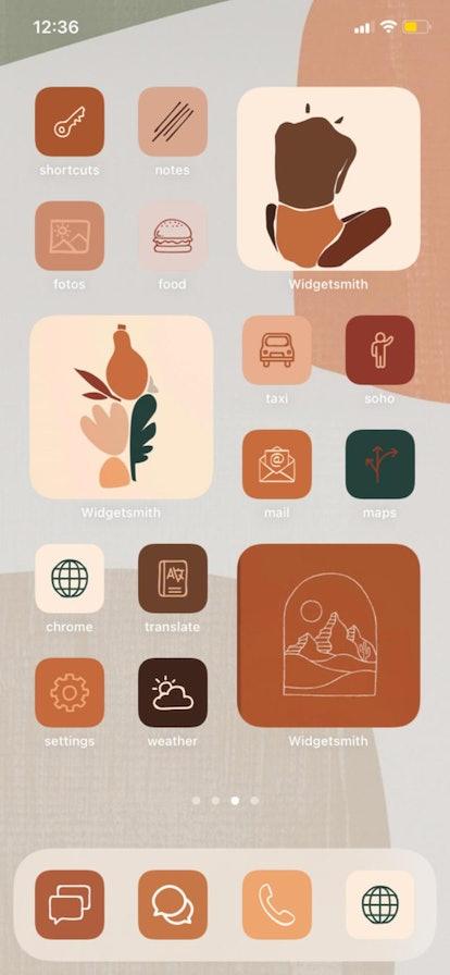 Boho Autumn Thanksgiving iOS 14 Home Screen Theme Pack