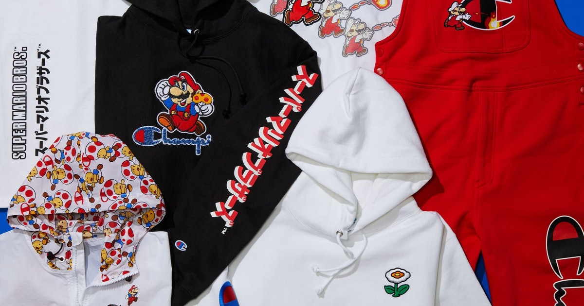 Champion's 'Super Mario' collection includes the iconic red overalls