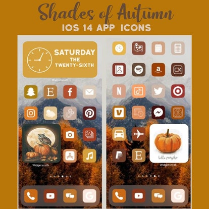 Thanksgiving Nature Aesthetic iOS Home Screen Theme Pack