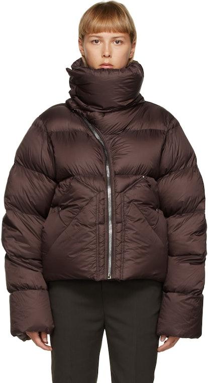 Asymmetric Zipper Mountain Coat