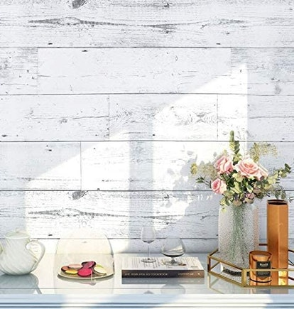 HaokHome Peel and Stick Wood Wallpaper
