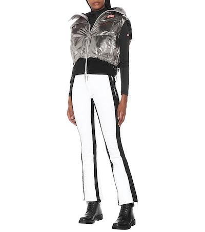 Metallic Puffer Ski Vest