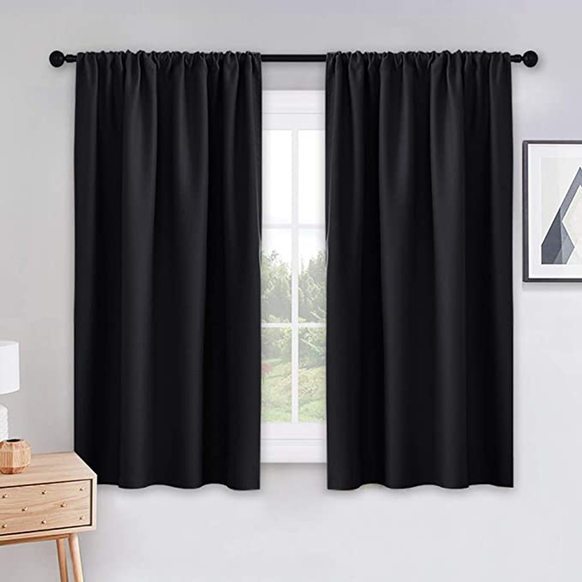 PONY DANCE Bedroom Blackout Curtains (2-Piece)