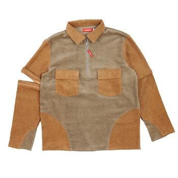 Tombogo Convertible Half Zip Work Shirt