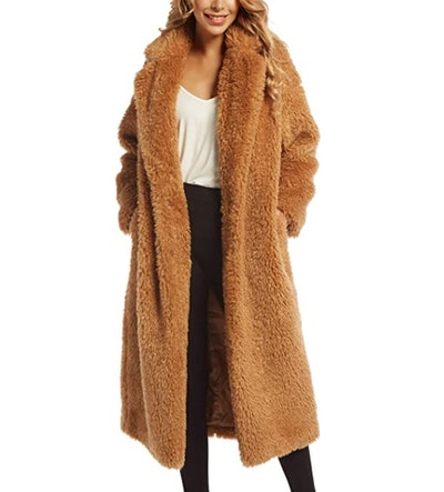 SUGAR POISON Faux Fur Overcoat