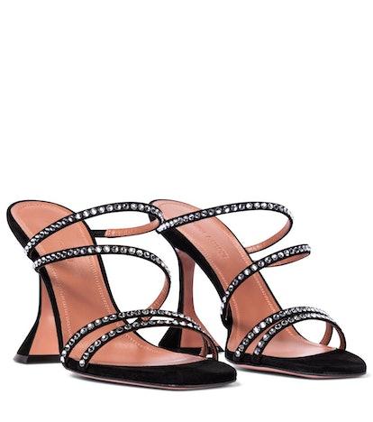 Naima Embellished Suede Sandals