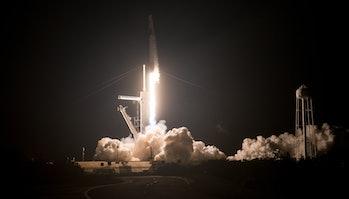 Crew Dragon launch.