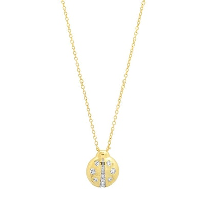Diamond Baby Ladybug Necklace