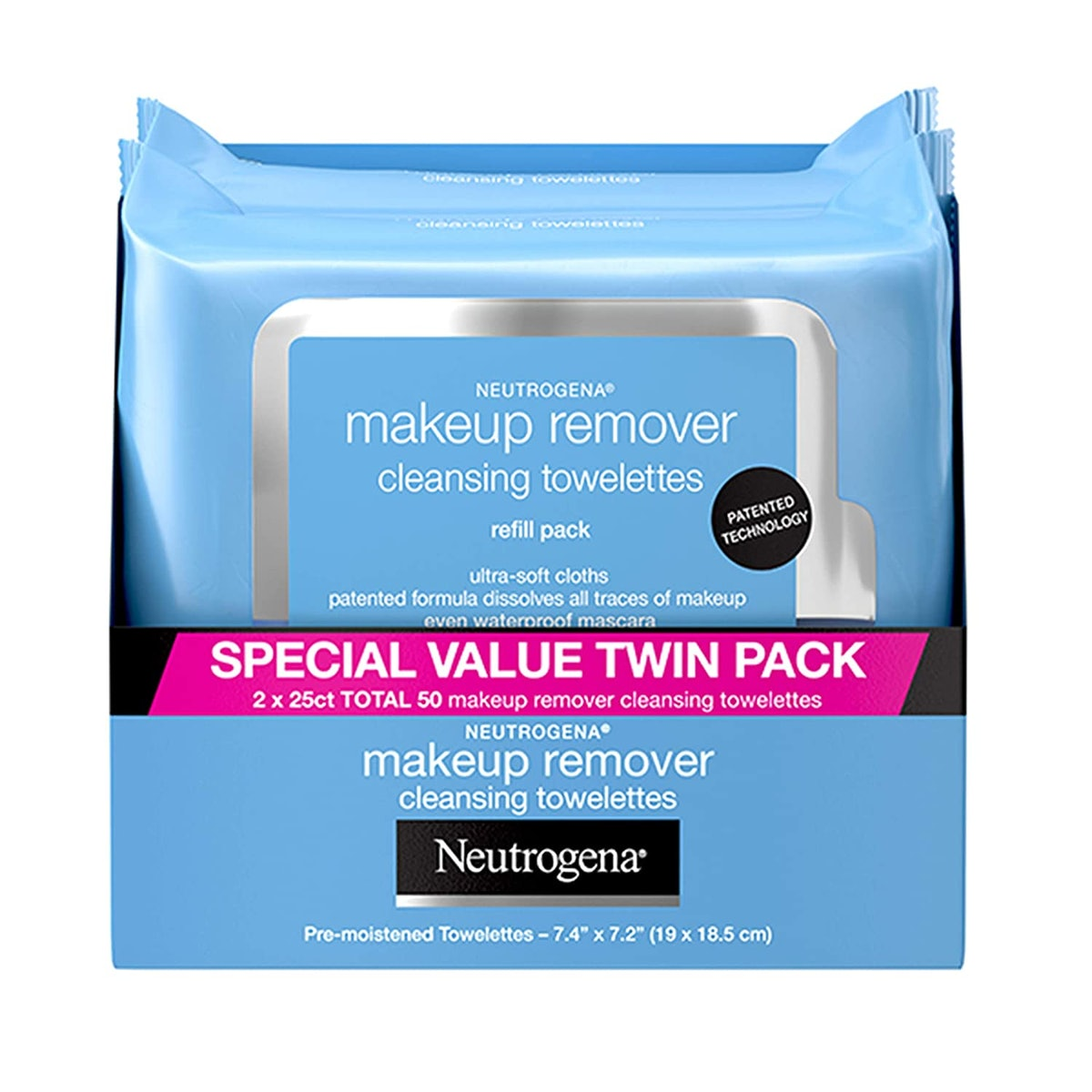 Neutrogena Makeup Remover Cleansing Towelettes  (2-Pack)