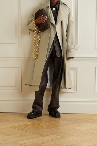 Oversized Layered Cotton-Gabardine Trench Coat