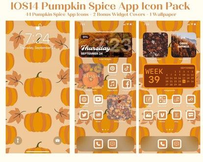 Pumpkin Spice iOS Home Screen Theme Pack