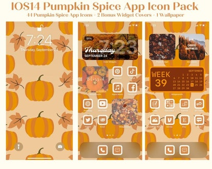 Pumpkin Spice iOS Home Screen Theme Pack