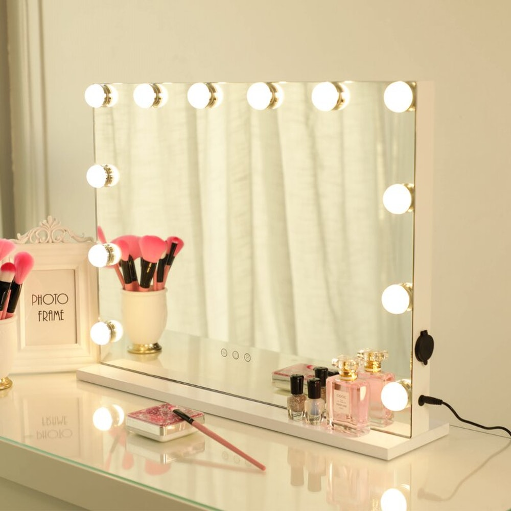 Orren Ellis Bucknam Frameless Lighted Makeup Mirror
