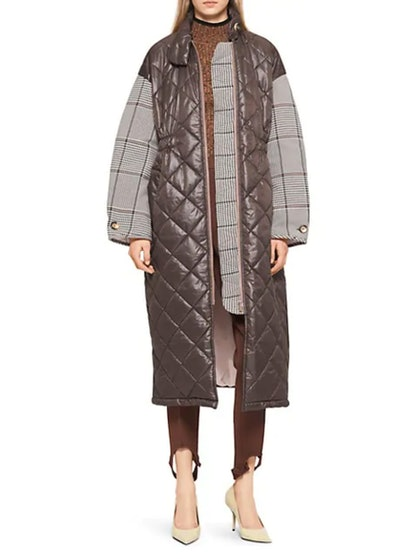 Deadra Check Quilted Coat