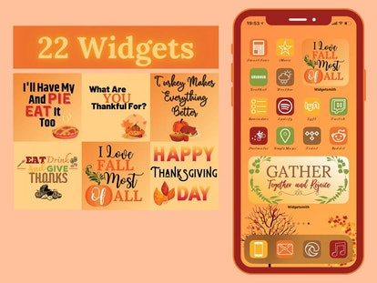 Fall and All Thanksgiving iOS 14 Icons Theme Pack
