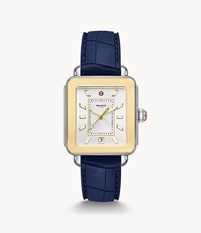 Deco Sport Two-Tone Navy Silicone Watch