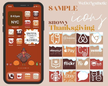 Cute Thanksgiving iOS 14 Home Screen Theme Pack
