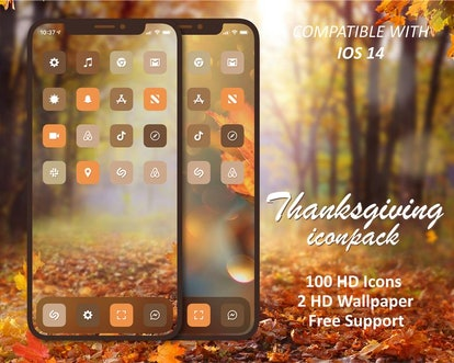 Minimalist Thanksgiving iOS Home Screen Theme Pack