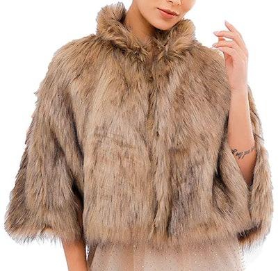 Asooll Faux Fur Cape