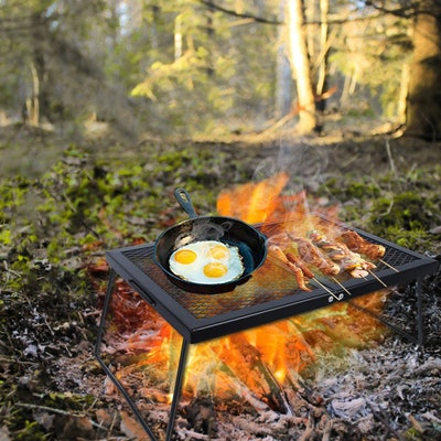 REDCAMP Folding Campfire Grill