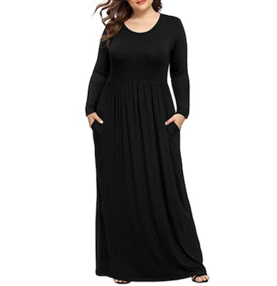 LONGYUAN Plus-Size Maxi Dress