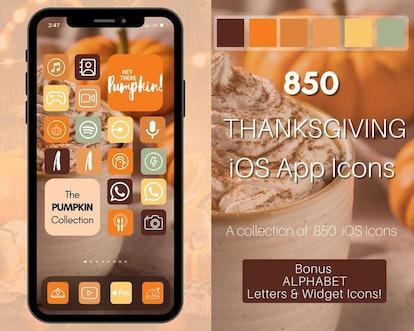 Thanksgiving Pumpkin & Latte iOS 14 Home Screen Theme Pack