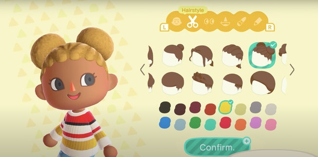Animal Crossing New Horizons character modeling textured hair