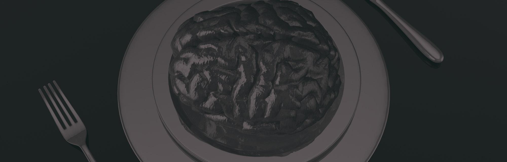 Brain on a dinner plate.