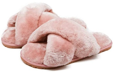 Crazy Lady Furry Slippers