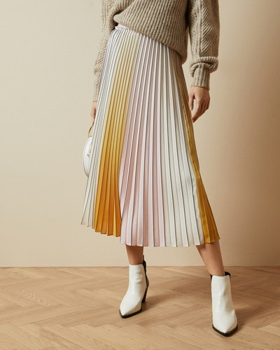 NOVIIA Ombré pleated skirt