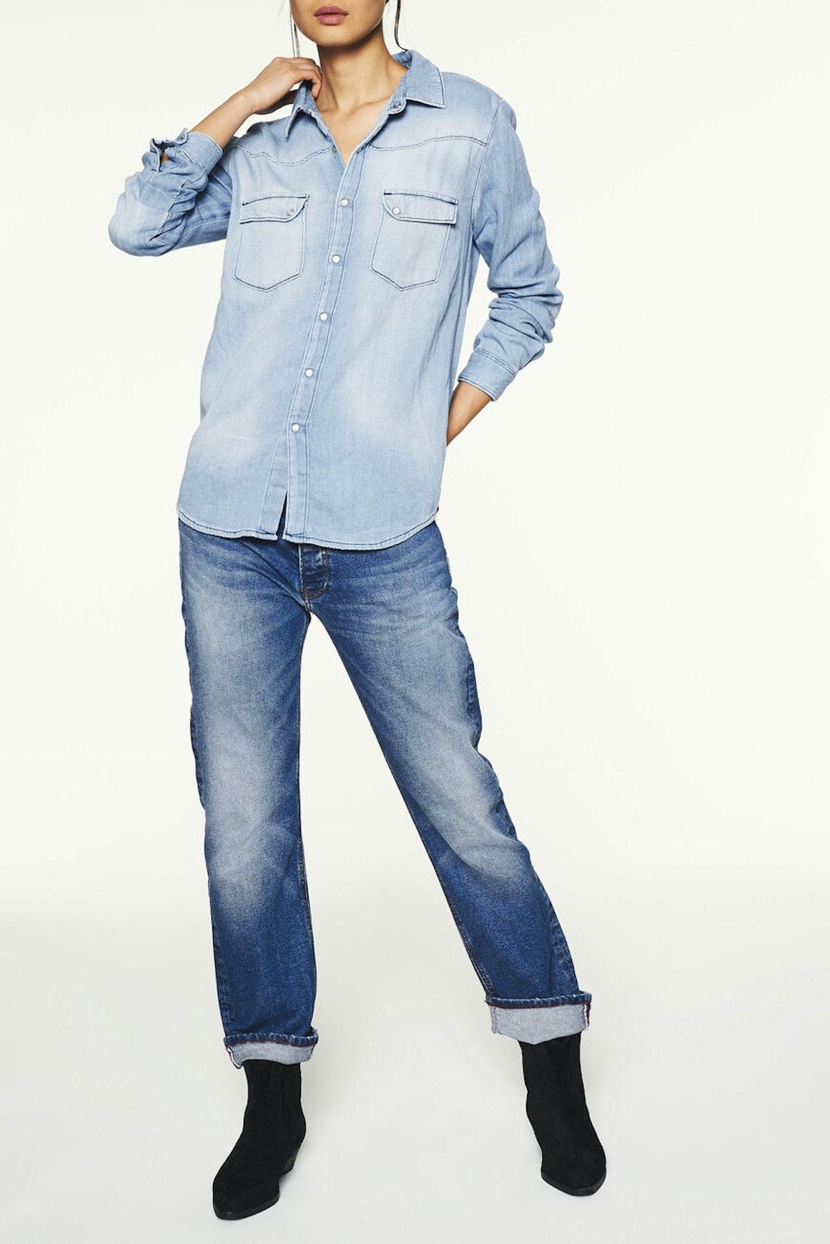 shirt bridget. DENIM SHIRT