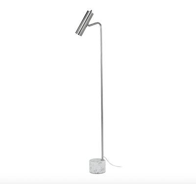 Crane Nickel Floor Lamp
