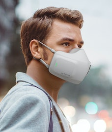 An high tech LG face mask designed to purify air and help guard against COVID-19.