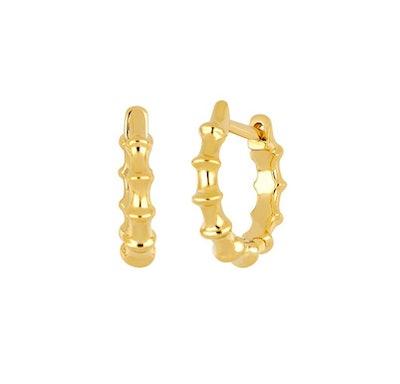 Gold Impala Horn Huggie Earring