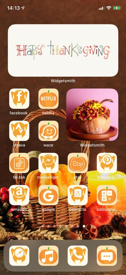 Happy Thanksgiving Harvest iOS 14 Home Screen Theme Pack